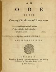 Cover of: An ode to the country gentlemen of England