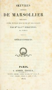 Cover of: Oeuvres choisies de Marsollier