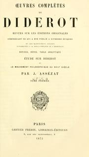 Cover of: Oeuvres complètes de Diderot