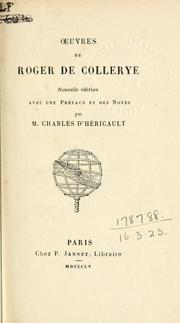 Cover of: Oeuvres de Roger de Collerye