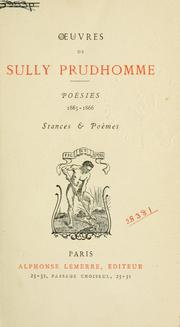 Cover of: Oeuvres de Sully Prudhomme