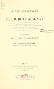 Cover of: Oeuvres scientifiques