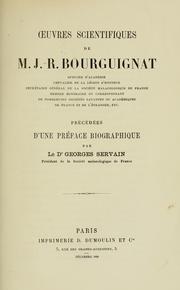 Cover of: Oeuvres scientifiques de M.J.-R. Bourgignat