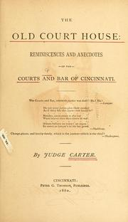 Cover of: The old court house