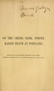 Cover of: On the formation of the Chesil Bank, Dorset