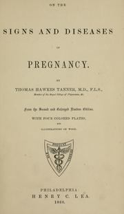 Cover of: On the signs and diseases of pregnancy: From the 2d and enl. London ed.