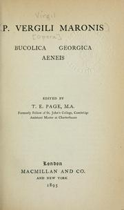Cover of: [Opera]: Bucolica, Georgica, Aeneis