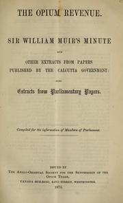 Cover of: The opium revenue