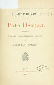 Cover of: Papa Hamlet