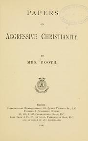 Cover of: Papers on Aggressive Christianity