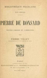 Cover of: Pierre de Ronsard