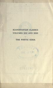Cover of: The poetic Edda