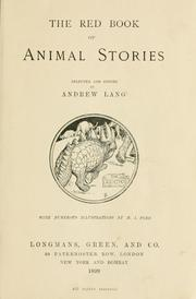 Cover of: The red book of animal stories