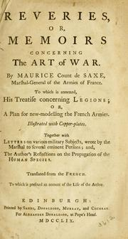 Cover of: Reveries, or, Memoirs concerning the art of war
