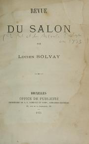Cover of: Revue du Salon