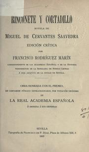 Cover of: Rinconete y Cortadillo