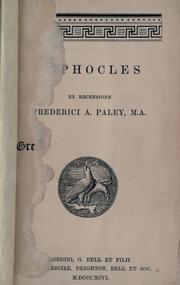 Cover of: Sophocles