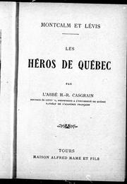 Cover of: Montcalm et Lévis