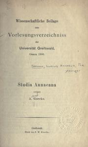 Cover of: Studia Annaeana ..
