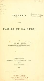 Cover of: A synopsis of the family of Naiades