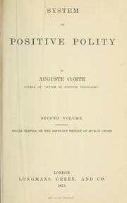 Cover of: System of positive polity