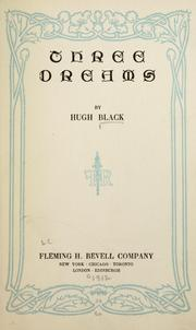 Cover of: Three dreams