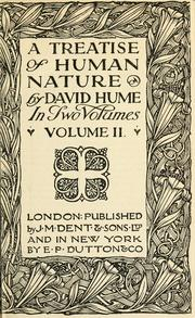 Cover of: A treatise of human nature