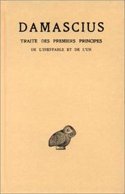 Cover of: Traité des premiers principes