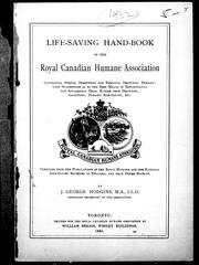 Cover of: Life-saving hand-book of the Royal Canadian Humane Association