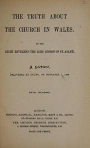 Cover of: The truth about the church in Wales
