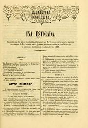 Cover of: Una estocada: comedia en dos actos