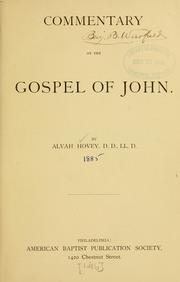 Cover of: Commentary on the Gospel of John ..
