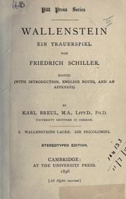 Cover of: Wallenstein