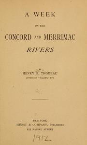 Cover of: A week on the Concord and Merrimac rivers