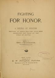 Cover of: Fighting for honor