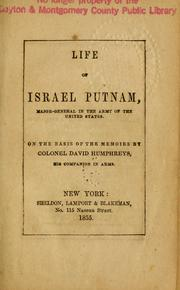 Cover of: Life of Israel Putnam, major-general in the Army of the United States