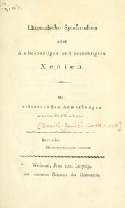Cover of: Litterarische Spiessruthen
