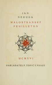 Cover of: Malostranský feuilleton