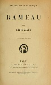 Cover of: Rameau, par Louis Laloy