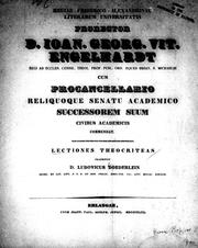 Cover of: Lectiones Theocriteas