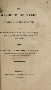 Cover of: The measure of value stated and illustrated