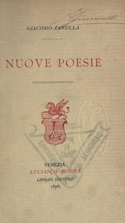Cover of: Nuove poesie