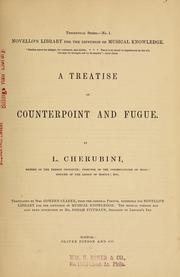Cover of: Cours de contrepoint et de fugue
