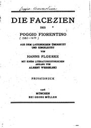 Cover of: Die facezien