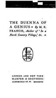 Cover of: The duenna of a genius