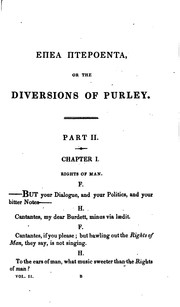 Cover of: Epea pteroenta, or: The diversions of Purley.
