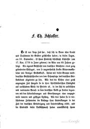 Cover of: Friedrich Christoph Schlosser