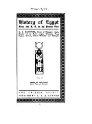 Cover of: History of Egypt, Chaldea, Syria, Babylonia, and Assyria