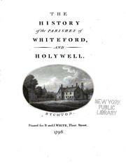 Cover of: The history of the parishes of Whiteford and Holywell