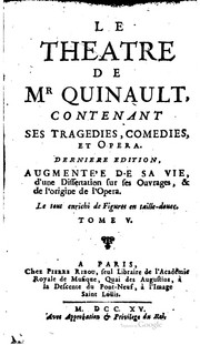 Cover of: Le théâtre de Mr Quinault